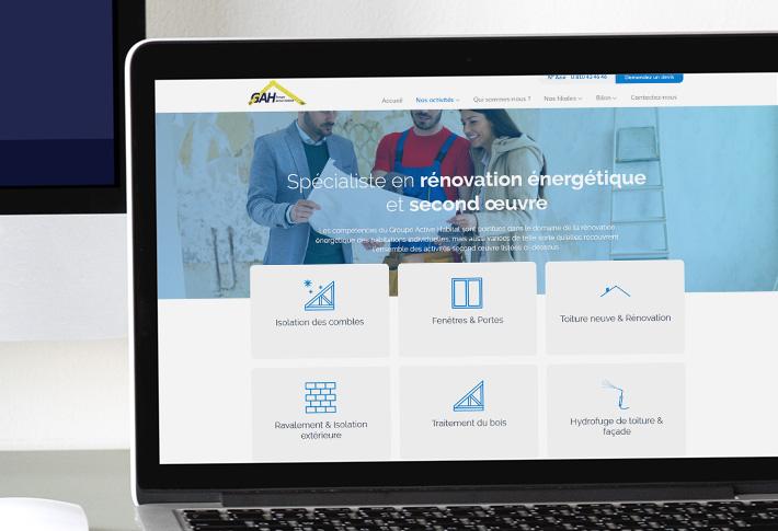 Exemple Groupe Actiove Habitat site web