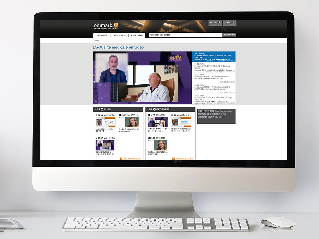 Projet de site web pour Edimark TV