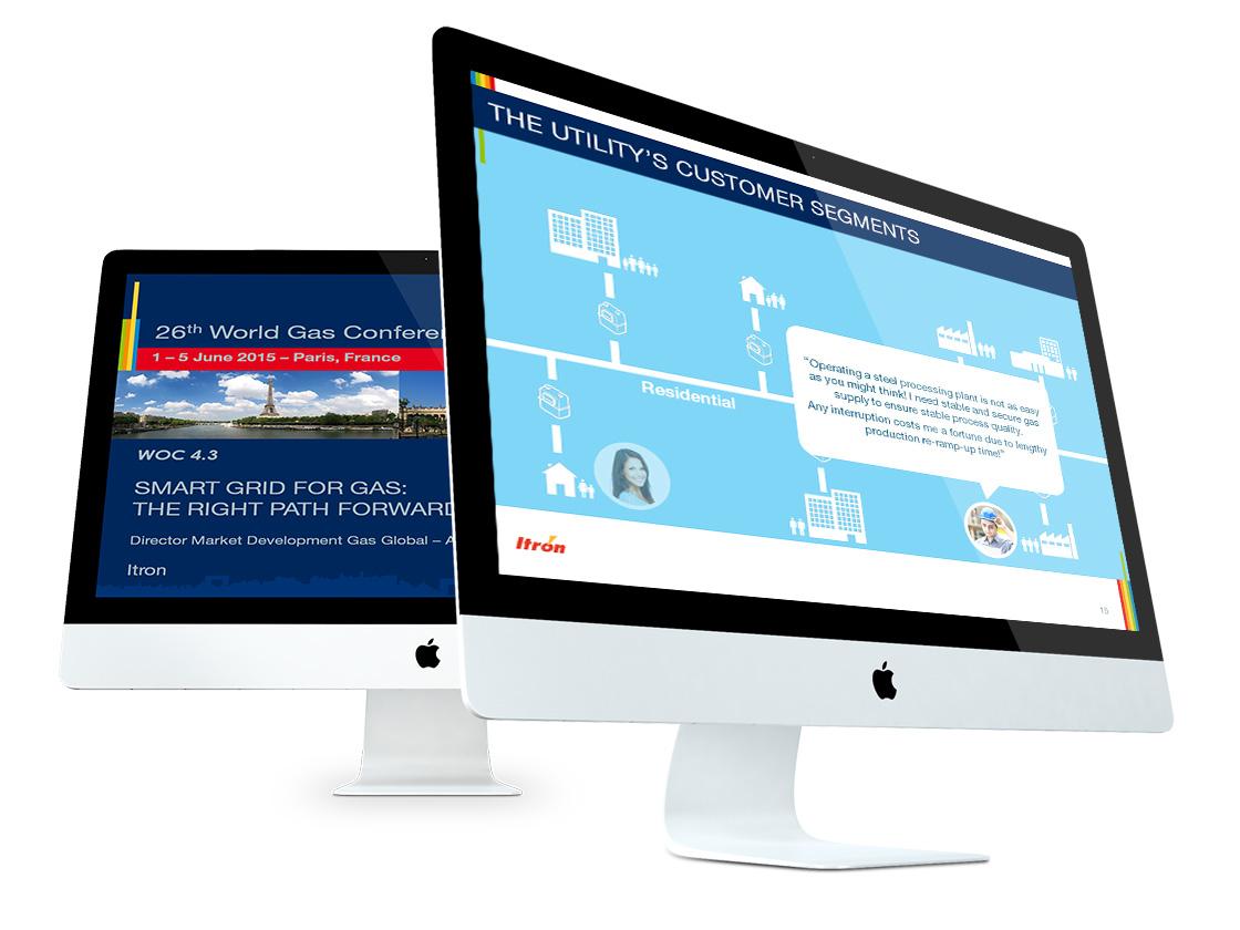 Projet de présentation produits PowerPoint pour ITRON