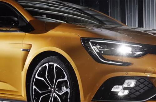 Exemple carte de vœux Renault Sport 2018