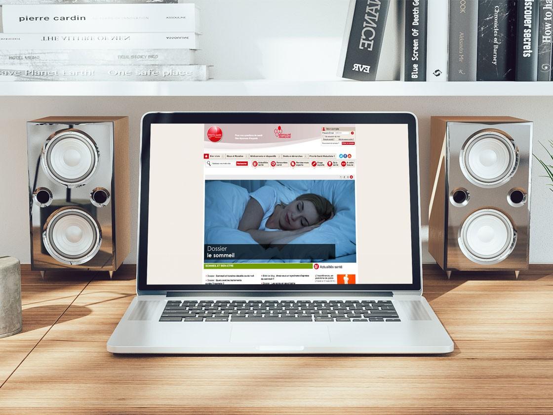 Design Site internet Priorité Santé Mutualiste