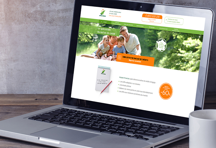 Exemple site web Impact Finances