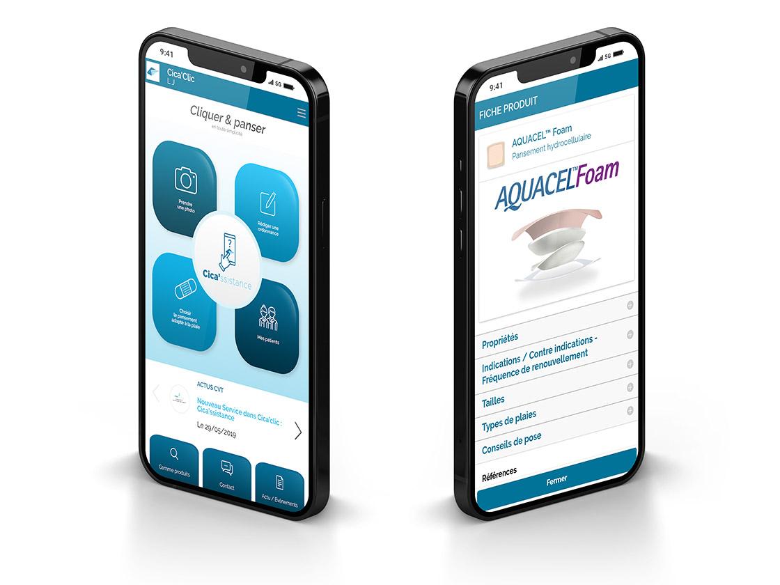 Application Cica'Clic écrans accueil