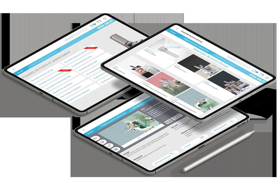écrans du projet de l'application Vachette