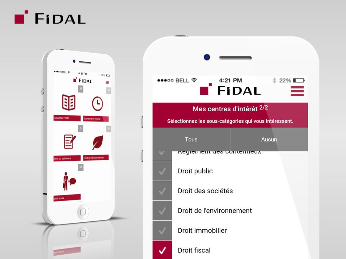 Projet d'application veille juridique pour FIDAL