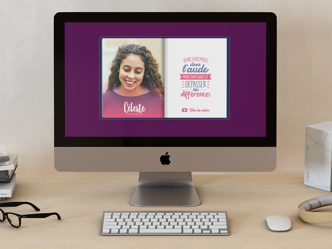 Projet de carte de vœux en livre interactif pour le département de l'Aude