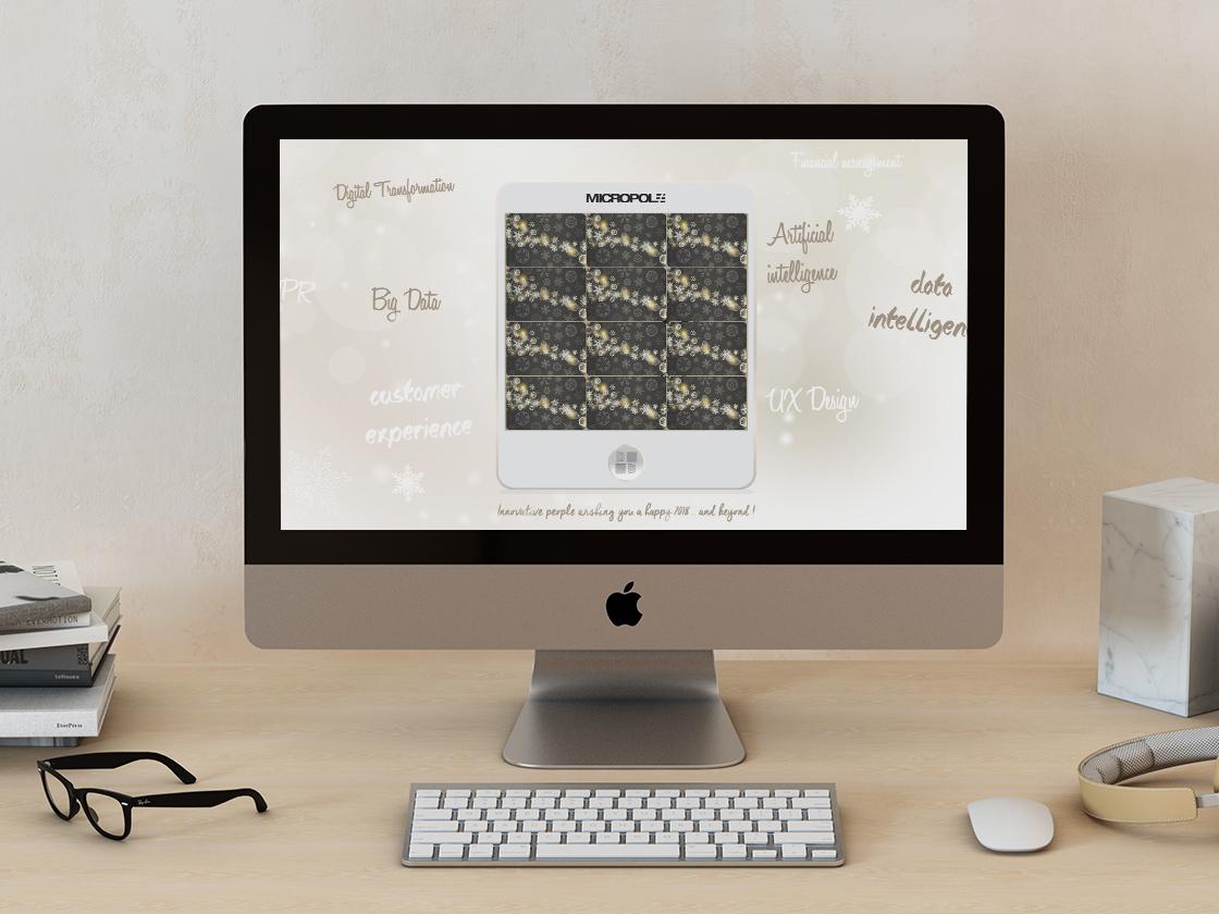 Projet de carte de vœux Memory pour Micropole