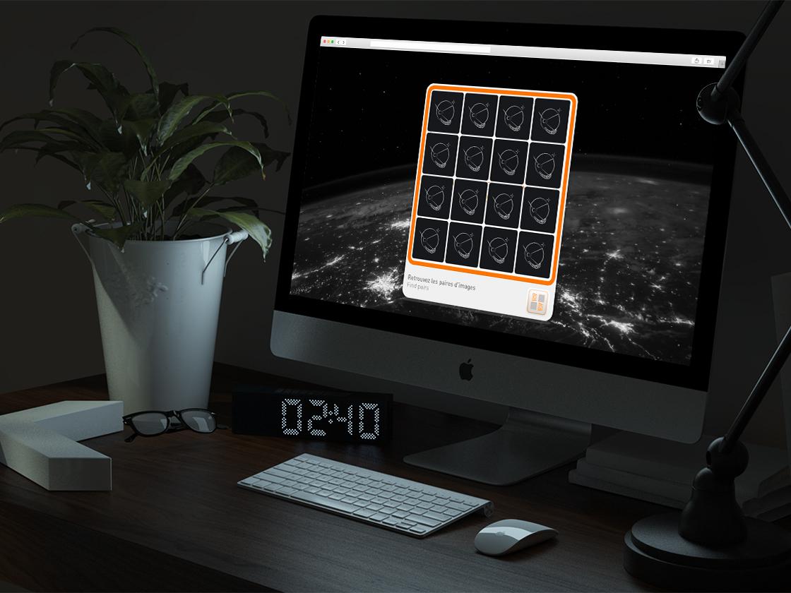 Projet de carte de vœux Memory pour Privacy On Track