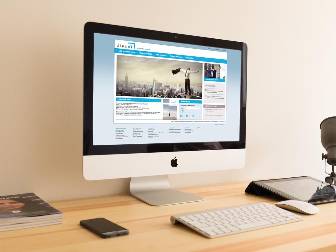 Projet de site web pour Direxi