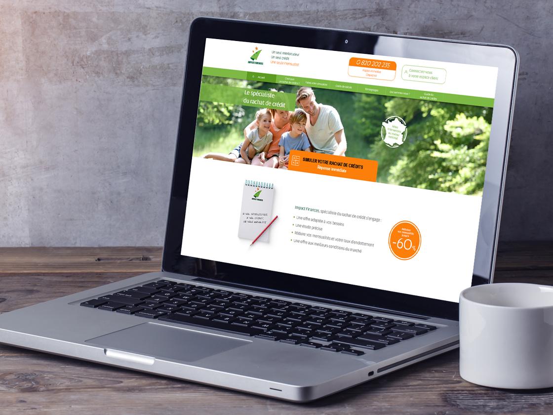 Création web Impact Finances