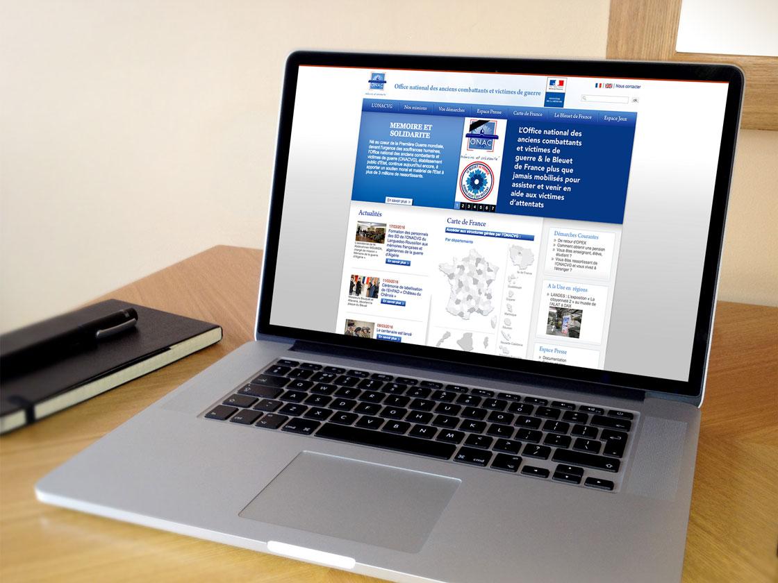 Projet de création de site institutionnel ONAC