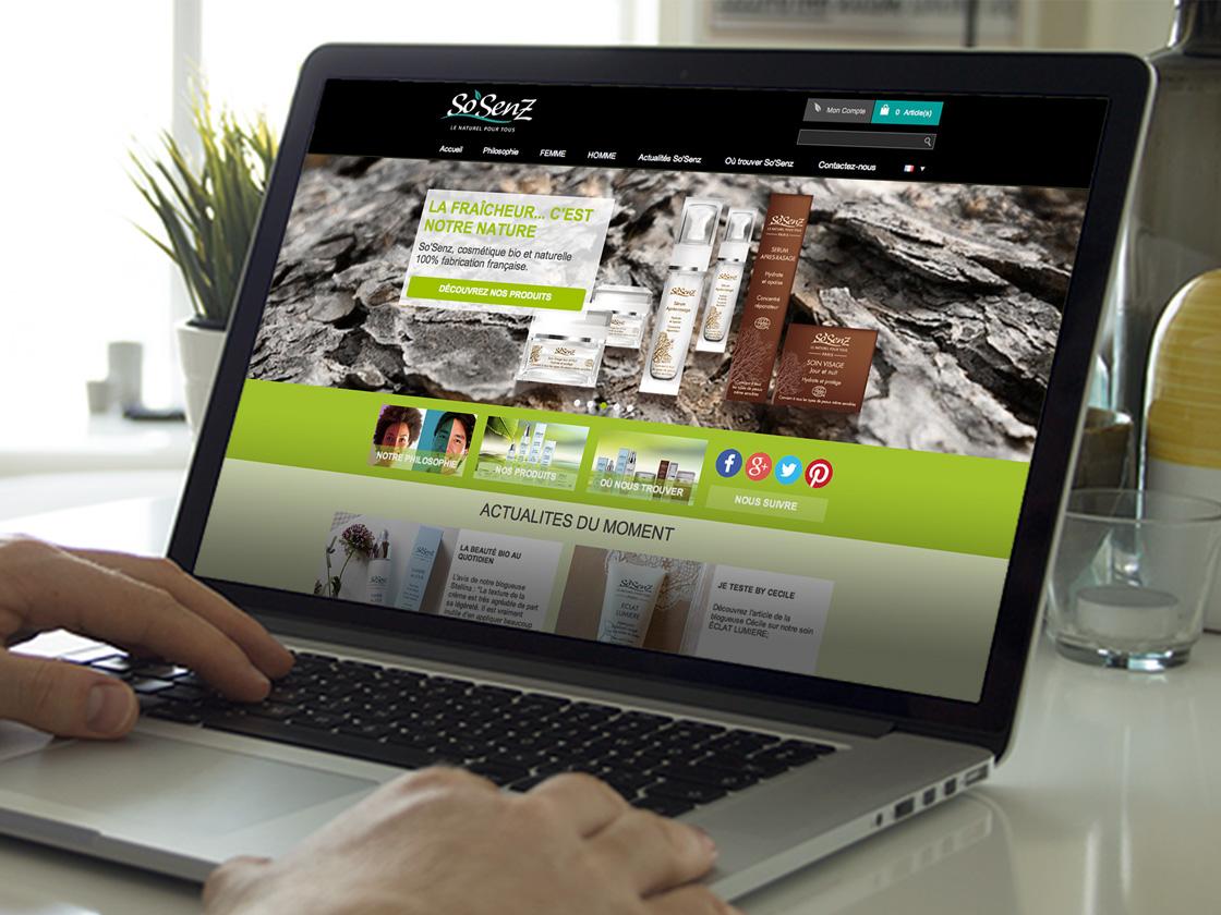 Projet de création site internet SoSenz