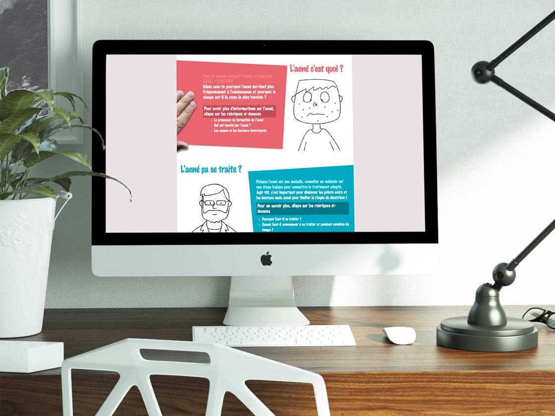 Projet de Scrolling Web Design - Tout sur l'acnée