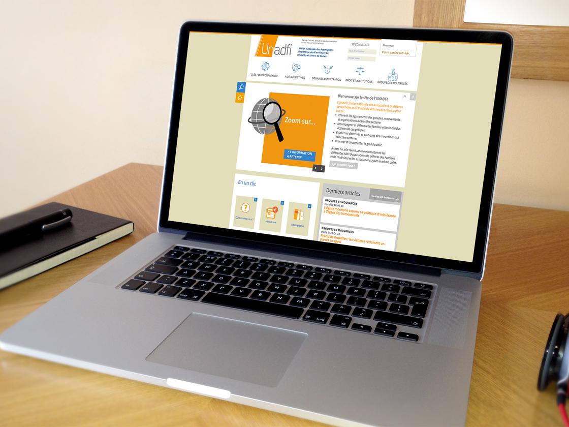 Projet de développement du site sous Drupal pour Unadfi