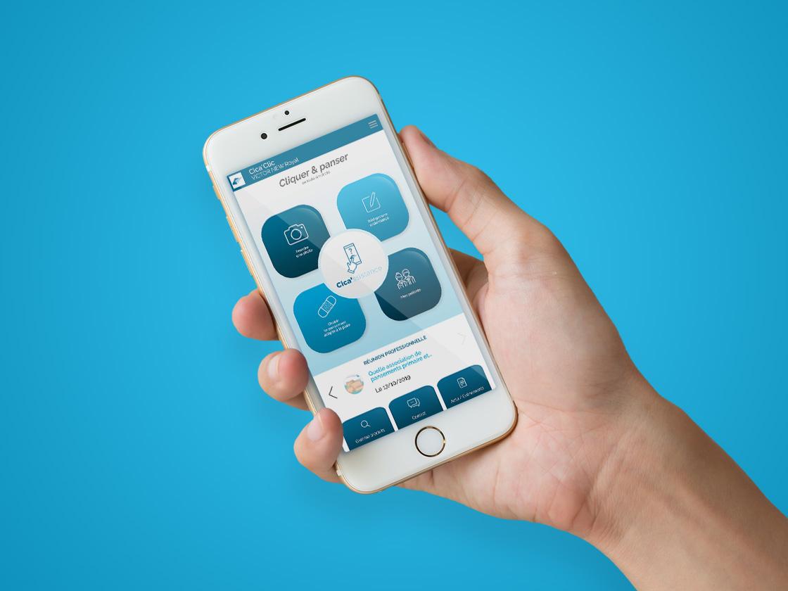 Création de l'application mobile Cica'Clic