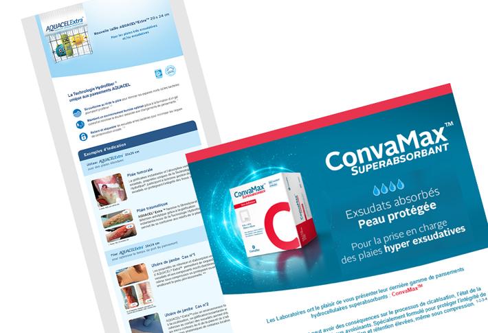 Réalisation emailings Convatec
