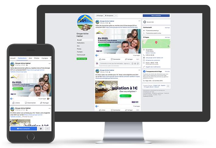 Exemple de visuels réseaux sociaux GAH