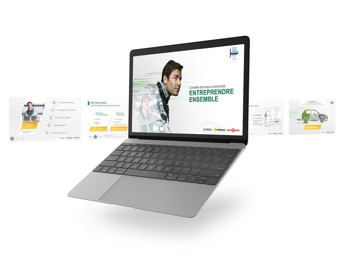 Projet de présentation PowerPoint interactive pour DEKRA