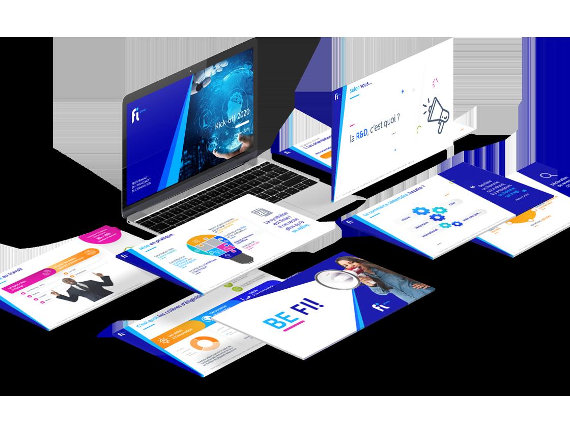 Projet de présentation PowerPoint de formation pour FI GROUP