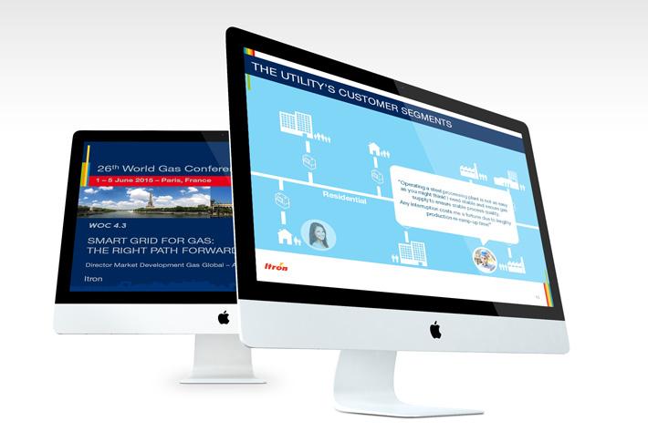 Exemple présentation PowerPoint Itron