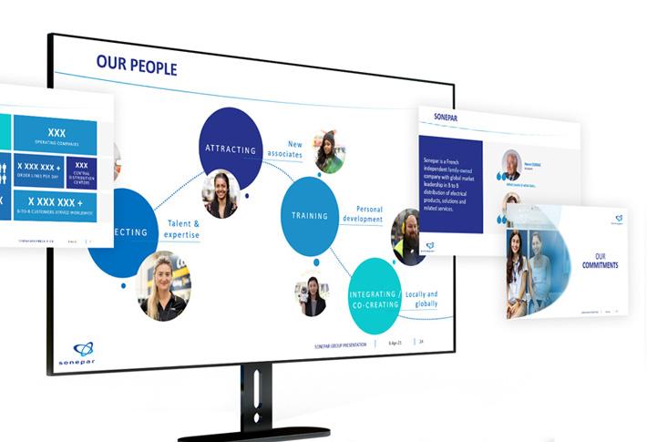 Exemple présentation PowerPoint Sonepar