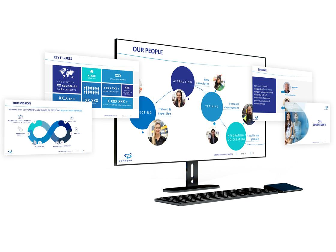 Projet de présentation PowerPoint pour Sonepar