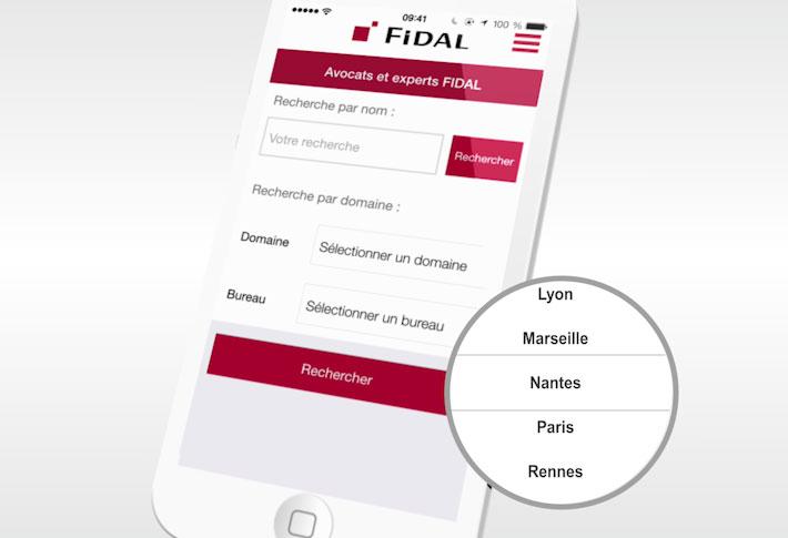 Exemple application FIDAL