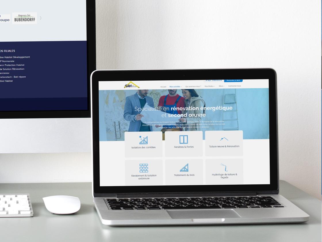 Projet de site internet pour le Groupe Active Habitat