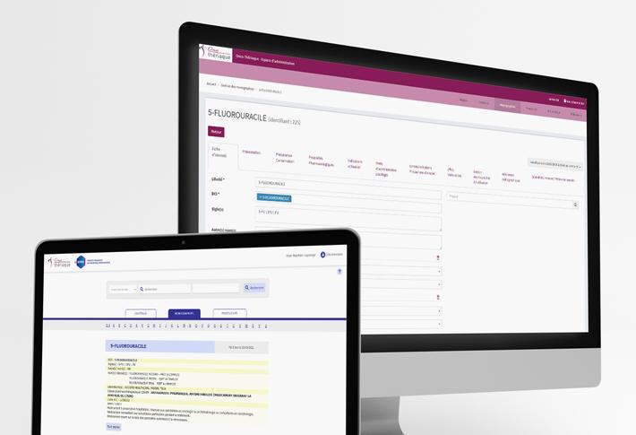 Exemple Plateforme web OncoThériaque