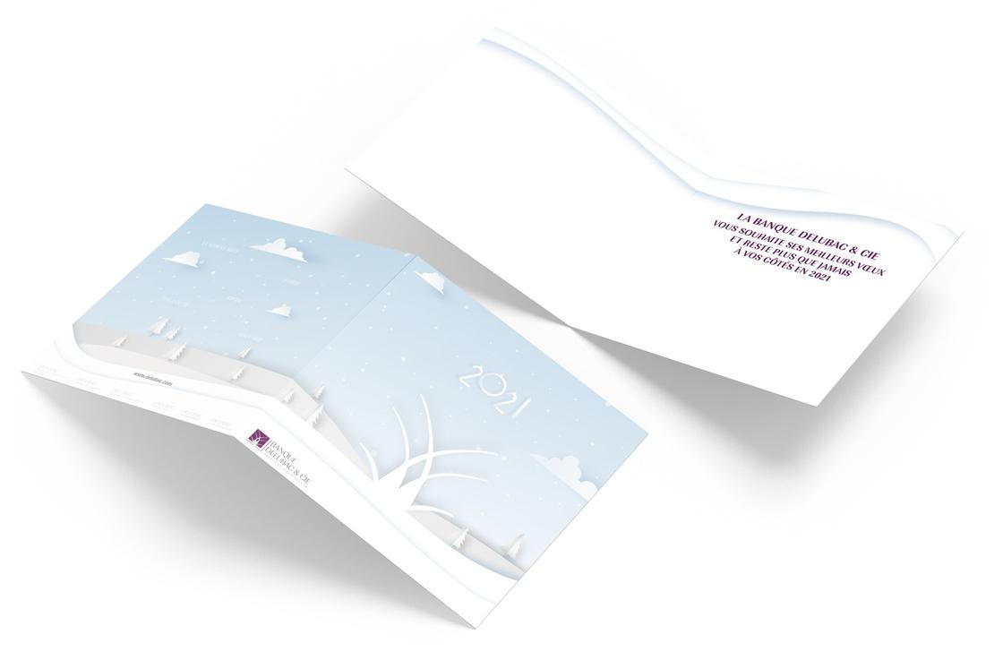 Carte de vœux papier DELUBAC