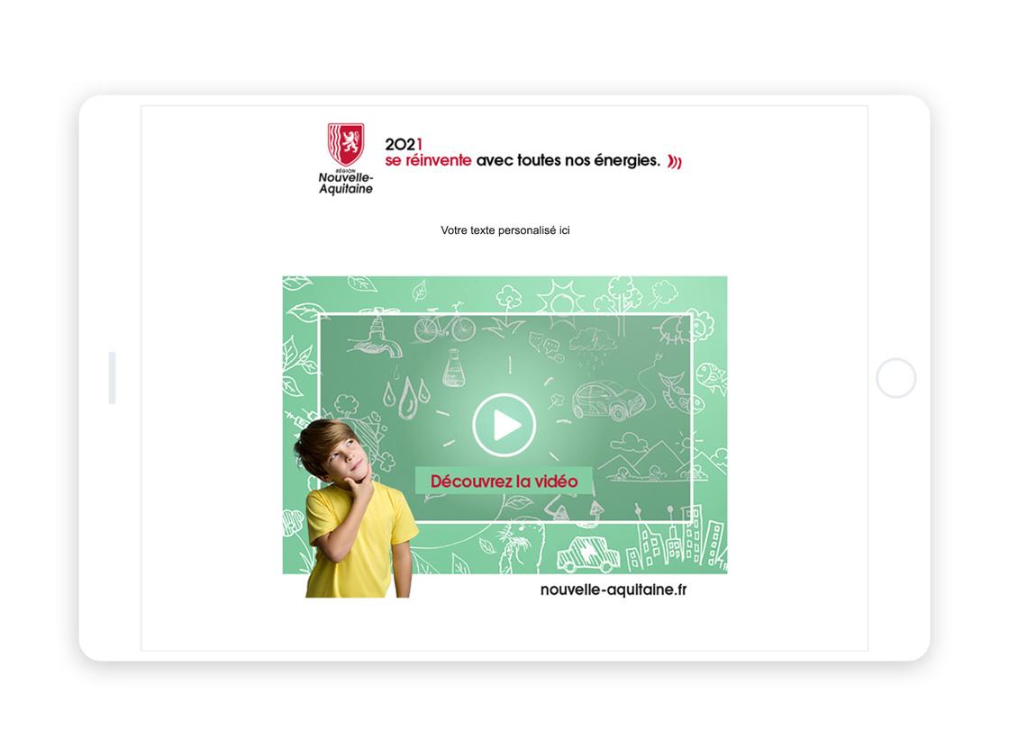 visuel vœux emailing Nouvelle-Aquitaine